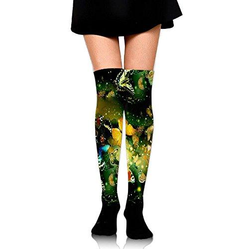 くさび影読者こちよう ストッキング サイハイソックス 3D デザイン 女性男性 秋と冬 フリーサイズ 美脚 かわいいデザイン 靴下 足元パイル ハイソックス メンズ レディース ブラック