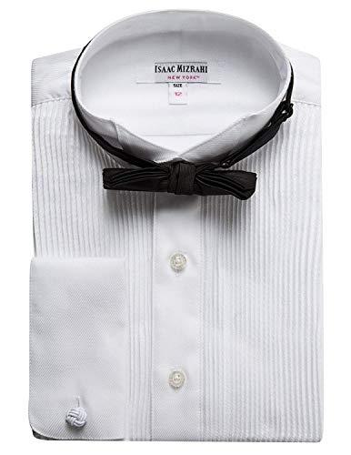 Isaac Mizrahi Boys SH9250B 100% Cotton French Cuff Twill Wing Tip Collar - White - 16