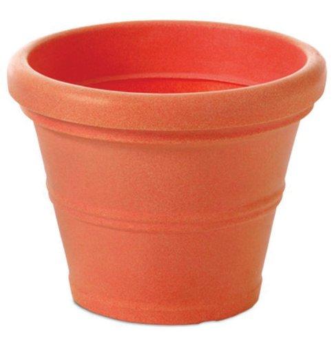 Tusco T245 Rolled Rim Pot, Round, Terra Cotta, 24.5-Inch