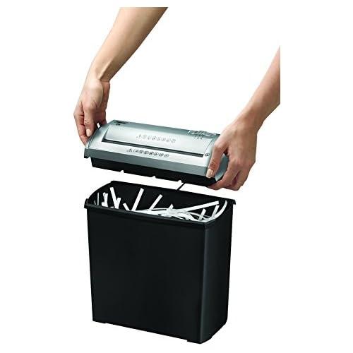 chollos oferta descuentos barato Fellowes Trito 2S Destructora trituradora de papel corte en tiras 5 hojas color negro