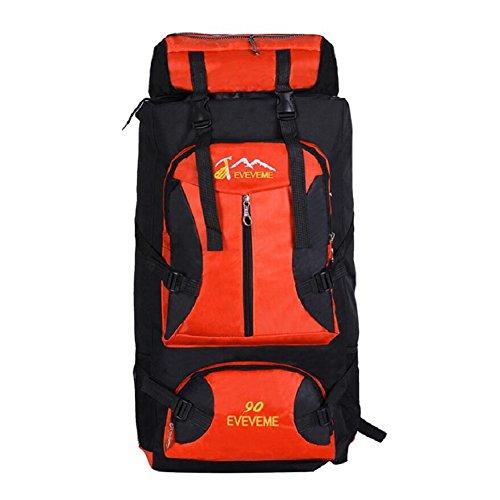ZC&J Moda mochila universal de los hombres y las mujeres, cómodo ajustable, resistente al desgaste, anti-fouling, mochila de viaje de alta calidad, 56-75L mochila de gran capacidad de montaña,C,56-75L A