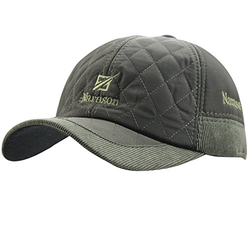 28d02926598 eYourlife2012 Men s Warm Cotton Padded Quilting Plaid Peaked Baseball Hat  Cap with Ear Flap
