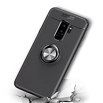 ANERNAI Galaxy S9 Plus 360 Degree Rotating Ring Shockproof Compatible Magnetic Car Mount Cover Samsung Galaxy S9 Plus