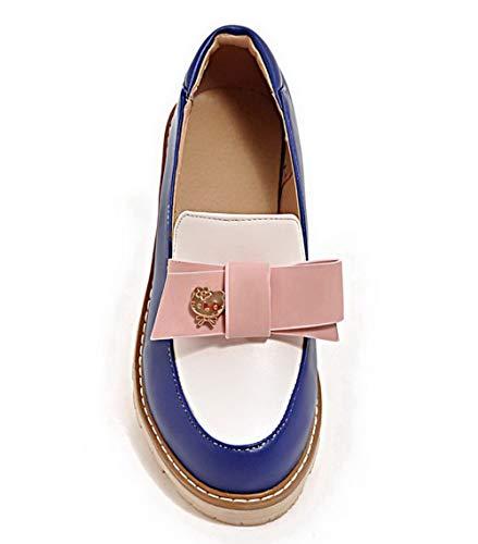 Flats Azzurro Colore Assortito Chiusa Ballet AgooLar GMMDB006176 Donna Punta f8xqwfCYU