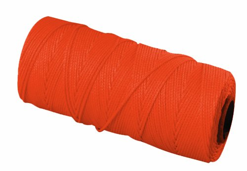 - Bon 11-881 18 No.1000-Feet EZC Bricklayers Braided Nylon Line, Neon Orange