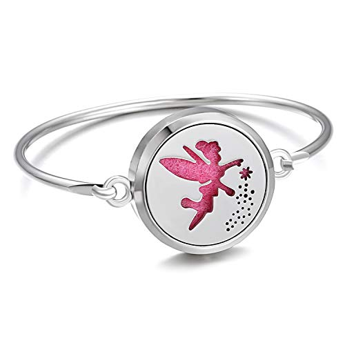 Niceer Perfume Bracelet Essential Oil Diffuser Aromatherapy Locket Bracelet Tree of Life 316L Stainless Steel Diffuser Bracelet,8]()