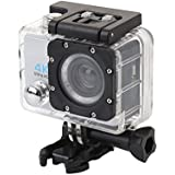 Hongfei (Silver) Action Camera, 4K Ultra HD Waterproof Sport Camera 2 Inch LCD Screen 12MP 90 Degree Wide Angle