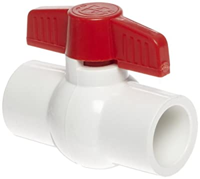 "Hayward PVC Ball Valve, White, One Piece, EPDM Seal, 3/4"" Socket by Hayward"
