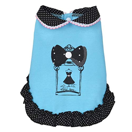 YOTATO Spring and Summer Doll Collar Dog Dress Pet Skirt Costumes Clothes]()