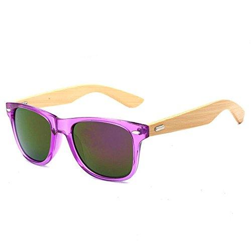 de Bambú y la de Gafas de Ultravioletas Resina o Anti para B Mujeres Gafas Sol Libre Conducción al Marco YANKAN para Aire Lentes Hombres 07qTX