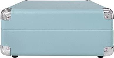 Crosley CR8005A-TU Cruiser Portable 3-Speed Turntable, Turquoise