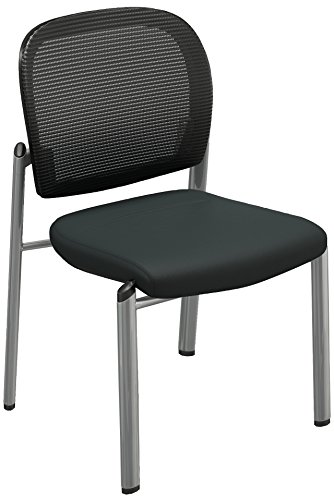 Mayline Valoré Series Chair with Mesh & Fabric-2/Ctn in Silver (Mayline Fabric Chair)