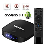 2018 Upgraded Android 8.1 TV Box with Voice Remote,Leelbox Q2 PRO Quad core with 2GB RAM 16GB ROM Supporting 4K2K Full HD/3D/H.265/WiFi 2.4GHz