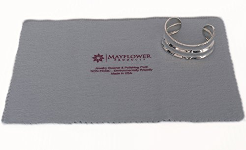 Mayflower Polishing Cloth for Cleaning Silver, Gold and Platinum Jewelry -NON TOXIC- Made In USA- Size 11