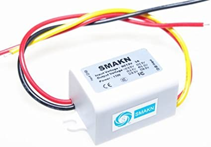 SMAKN/® Dc//dc Converter 12v Step Down to 5v//3a Power Supply Module DUAL USB Female OUTPUT