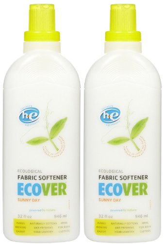 Laundry Natural Ecover (Ecover Fabric Softener, Sunny Day, 32 oz-2 pack)