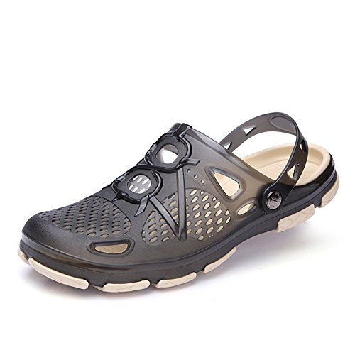 MEAYOU Mens Clogs Mens Garden Shoes Light Mules and Clogs Beach Sandals Slip on Water Shoes for Men Black 11 D(M) US/EU 45