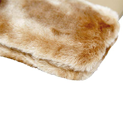 Fashion Women Bag Side Beige Me Styles Faux 3 Hand Fur Pouch Strap Handle Detachable Plus Clutch Leather AEq58ng