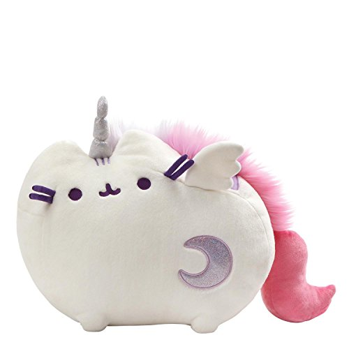 GUND Pusheen Super Pusheenicorn Unicorn Sound and Lights Plush Stuffed Animal, White, 17
