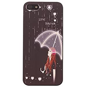 TOPMM The Girl in the Rain Pattern PC Hard Case for iPhone 5/5S