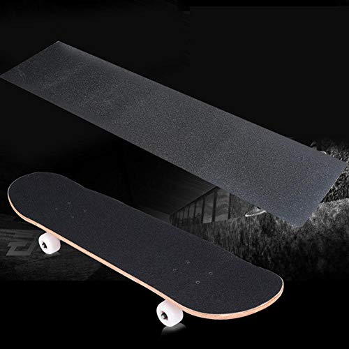 Bubble Free Waterproof Longboard Scooter Grip Tape Stairs Unique Ink Marble Stone Texture Black and White Striped Skateboard Grip Tape Sheets Griptape Skateboard Sandpaper for Rollerboard Pedal,