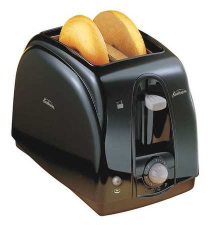Sunbeam Toaster, 2-Slot, 120/127V, Plastic