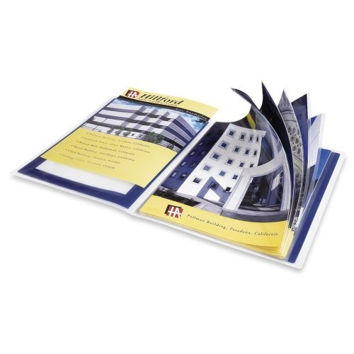 Wholesale CASE of 25 - Avery Flexi-View Presentation Books-Presentation Books, 12 Pages, 8-1/2''x11'', Blue by AVE