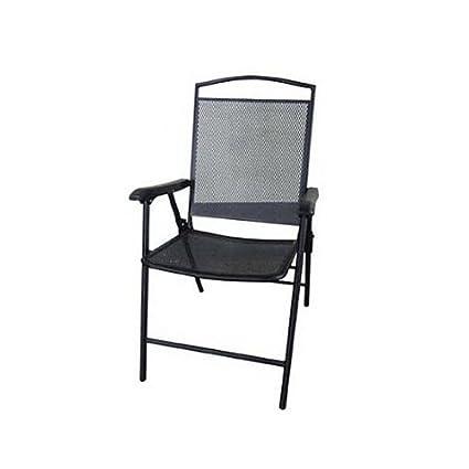 Strange Amazon Com Courtyard Creations Fls080 Folding Steel Mesh Bralicious Painted Fabric Chair Ideas Braliciousco