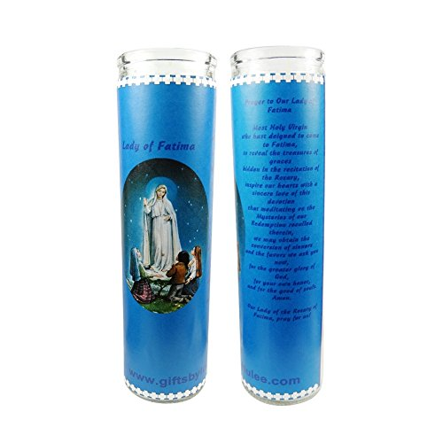 Gifts by Lulee, LLC Our Lady of Fatima Our Lady of The Holy Rosary Set of 2 Candles