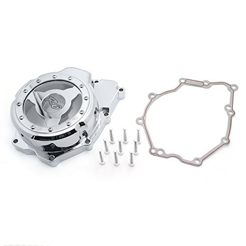 - SMT MOTO- Motorcycle Chrome Left Engine Stator Cover See Through For Yamaha 2006 - 2014 YZF R6 w gasket
