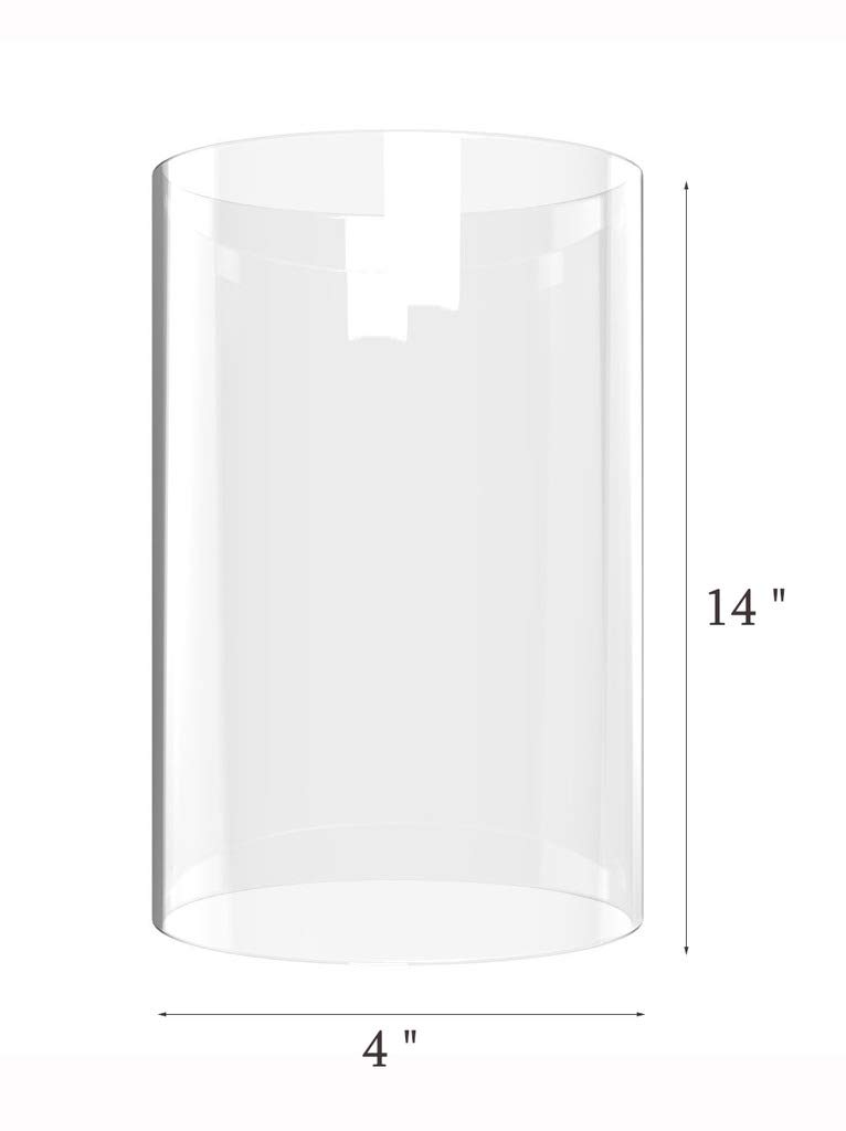 Amayan Clear Glass Cylinder Lampshade-Borosilicate Glass Height 14'' Diameter 4'' - Suitable for Wedding Decoration and Stage Props- Candle - (Multiple Specifications) by Amayan (Image #6)