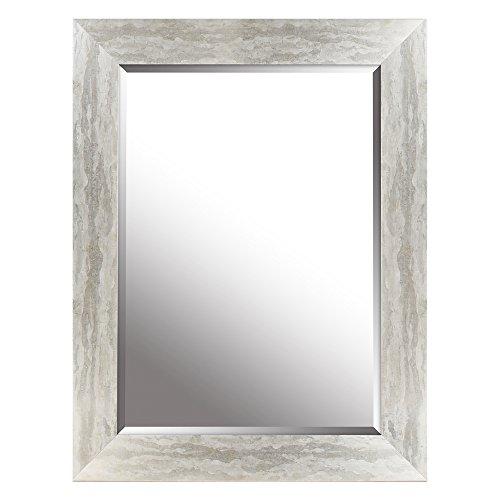 Mirrorize Gradient Framed Bevelled Wall Mirror  Vanity,Hallway,Bathroom, Bedroom   26.25x34.25 (Inner Mirror -