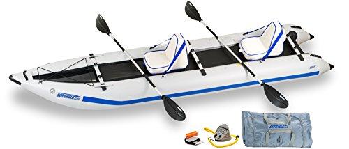 Sea Eagle 435 Paddle Ski Catamaran Inflatable Kayak with Del