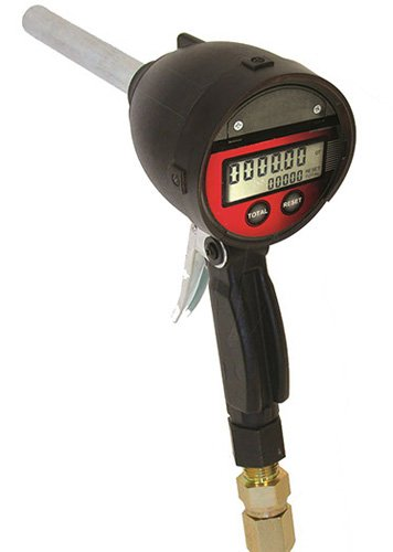 National-Spencer 1509 Digital Totalizing Pistol-Type Meter with Rigid Pipe, 1/2'' NPT (F) by National-Spencer, Inc.