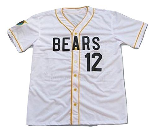borizcustoms Chico's Bail Bonds Bears Jersey Stitch Shirt Baseball Patch Sewn #12 Size (44) ()