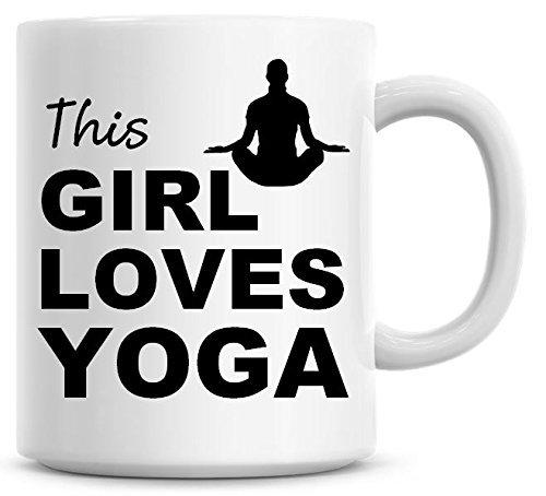 This Girl Loves Yoga - Taza de café: Amazon.es: Hogar