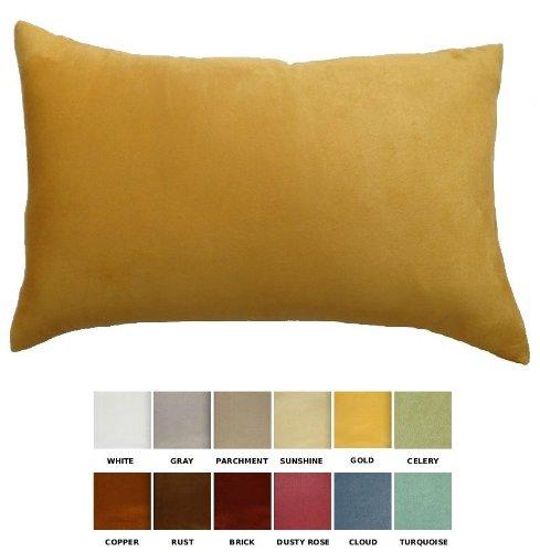 DreamHome - Solid Faux Suede Decorative Pillow Cover/Sham -