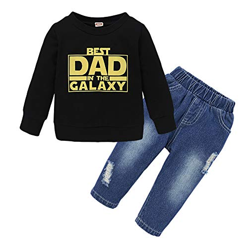 Toddler Baby Boys Clothes Letters Printed Long Sleeve Tops Pants Sweatsuit Fall Winter Outfits Set
