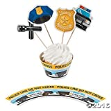 Party Supplies Police Party Cupcake Wrappers with Picks - Makes 50 by