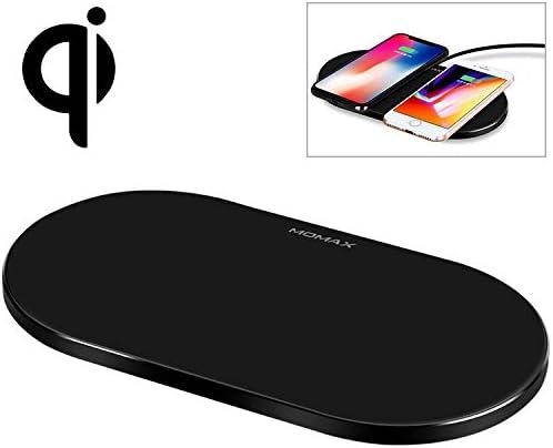 G-rf ワイヤレス充電器 Momax 10Wチー高速マルチポイントワイヤレス充電器を標準充電デュアル(ブラック) (Color : Black)