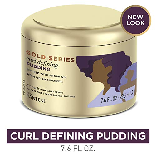 Pantene, Hair Cream Treatment, Sulfate Free Curl Defining Pudding, Pro-V Gold Series, for Natural and Curly Textured…