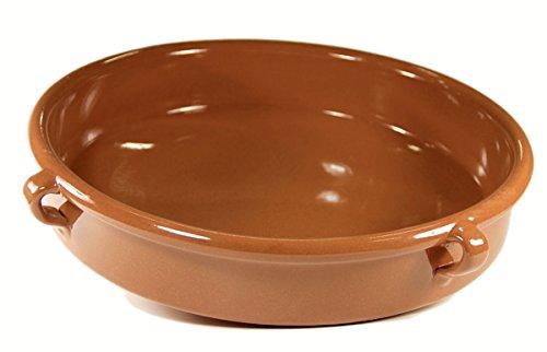 Terra Cotta Glaze Brown (La Tienda Terra Cotta Cazuela Dish (15 Inch, 192 Oz/ 24 Cup Capacity))