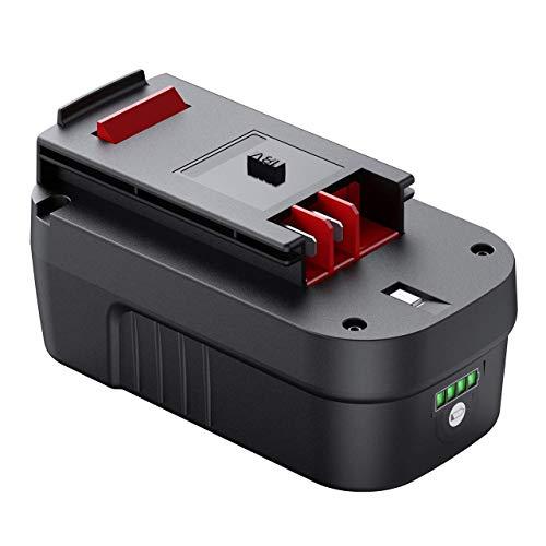 Tenhutt 3000mAh 18Volt Lithium Ion Battery Replacement for Black and Decker HPB18 HPB18-OPE 244760-00 A1718 FS18FL FSB18 Firestorm Cordless Power Tools (Black Decker 18v Batteries)