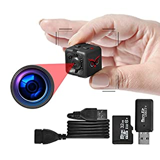 RED OWL EYES Spy Camera - Mini Hidden Camera 1080P Night Vision - Easy to Use Mini Camera Spy Wireless - Spy Cam Motion Detection - Nanny Camera - Small Camera - Secret Camera - 24/7 Recording
