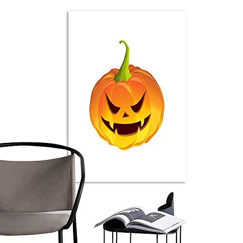 UHOO Linen Art Prints Picturescartoon Pumpkin for The Holiday Happy Halloween Vector Illustration.jpg Wall Art for Bedroom Living Room 24