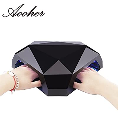Aooher 48W LED Nail Dryer New Products Multifunction Diamond Shaped LED Lamp For Two Hands or Feet Nail Tools