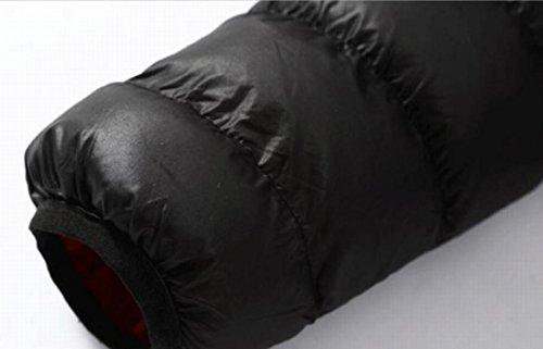 Collare Basamento Cappotto Ci D'inverno Nero Moda Eku Maschile S Del Zip Caldo Piumini EawHqTxC