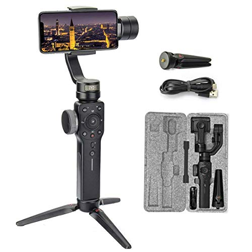 Zhiyun Smooth 4 3-Axis Handheld Gimbal Stabilizer for Smartphone Like iPhone Xs X 8 7 Plus Android Samsung S9 S8,Gopro,Focus Pull/Zoom,Object Tracking,Phonego Mode,Timelapse(New Smooth Q Ver in 2018)