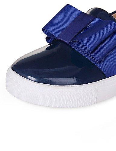 Azul Cn38 Zapatos Blue Uk5 Rosa Comfort Cuero Eu38 5 5 Zq Cn43 Tacón Eu42 Exterior Plano us10 us7 5 5 Mujer Patentado Uk8 Casual Mocasines De Pink PRWdF