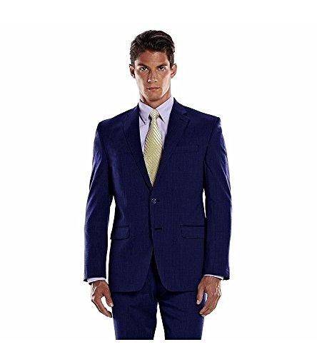 Blend Suit Jacket (Chaps Performance Men's Wool Blend Comfort Fit Stretch Suit Jacket (44S))